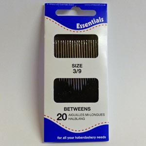DARNERS SIZE 3//9  AND SHARPS SIZE 8 WHITECROFT ESSENTIAL HAND NEEDLES